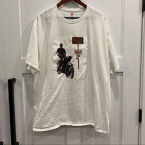 """NWOT {Hanes} Graphic """"Schweizer"""" T-Shirt, 2XL"""